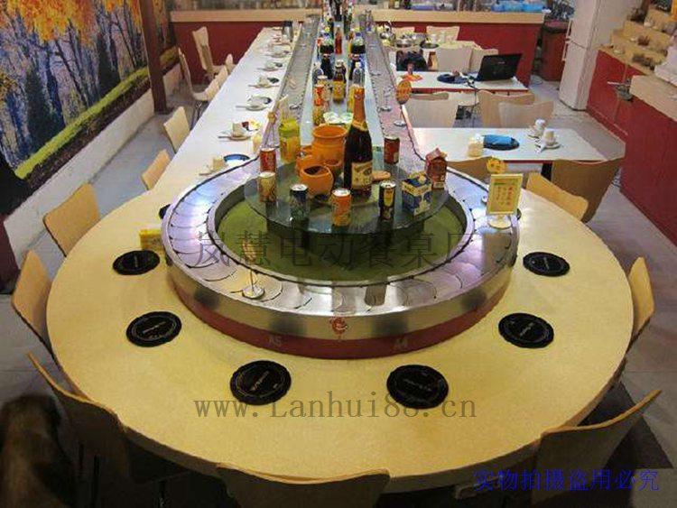 重庆旋转火锅设备工厂直销价格/回转小火锅设备